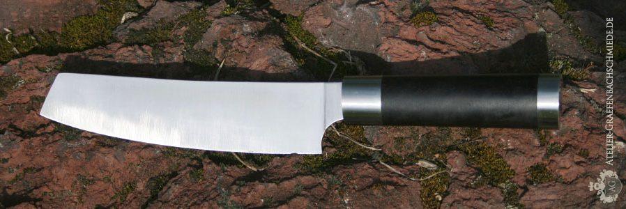 Japanisches Küchenmesser aus Schmiedekurs Messer/ Monostahl