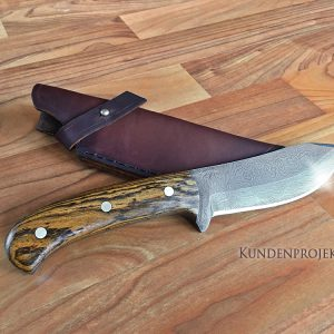 Damastschmiedekurs Messer, Kundenprojekt
