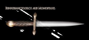 Renaissancedolch aus Monostahl