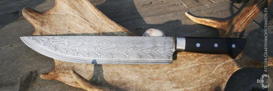 Messerschmiedekurs Damast Küchenmesser