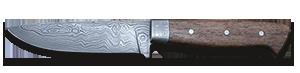 Jagdmesser Damaststahl aus Messermacherseminar